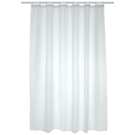 Plain Polyester Shower Curtain 1800mm x 1800mm - White
