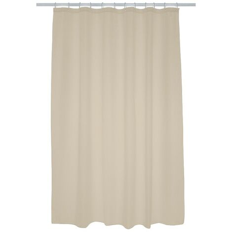 Plain Polyester Shower Curtain 1800mm x 2000mm - Cream