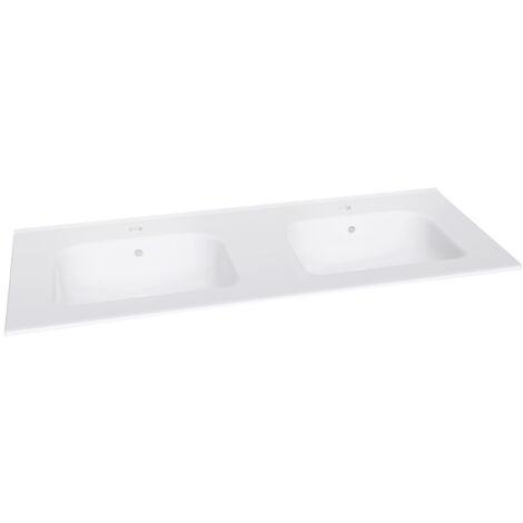 Plan céramique 2 vasques New Anco pour meuble 120cm