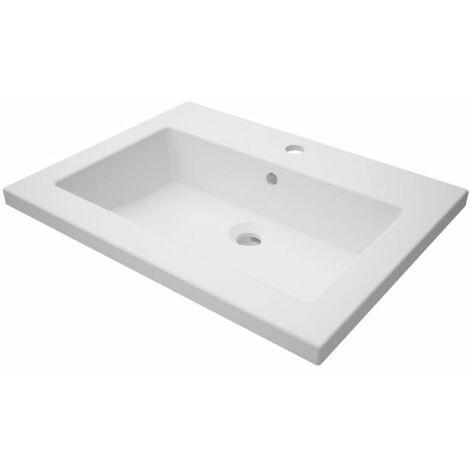 Plan de toilette ALTERNA CONCERTO 2, 60 cm en synthese vasque centree, Ref.FY600