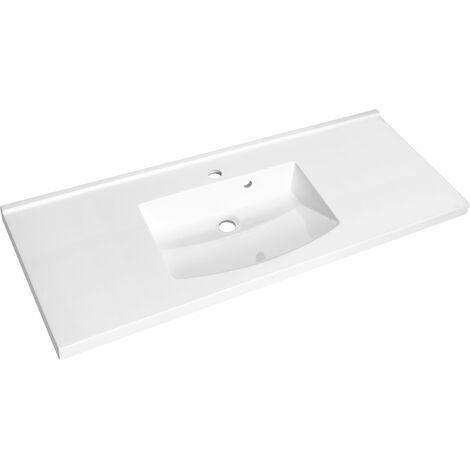 Plan de toilette en polybéton simple vasque 120 cm FLEX