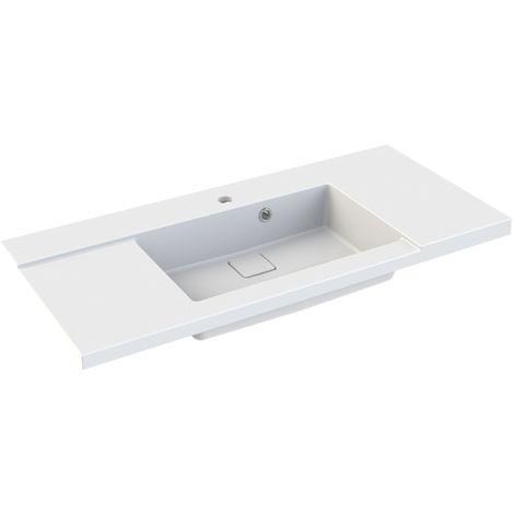 Plan de toilette simple vasque 100 cm KING