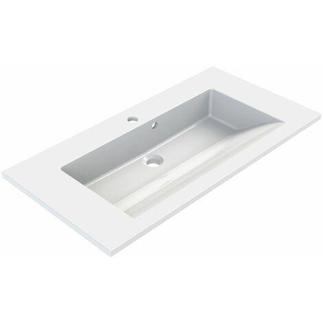 Plan de toilette simple vasque 80 cm SLIDE