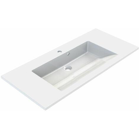 Plan de toilette simple vasque 90 cm SLIDE