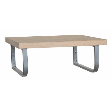 Plan de toilette suspendu pour vasque WILL - 120 cm - Ep. 3,8 cm - Décor Chêne / Effet Béton - Décor chêne