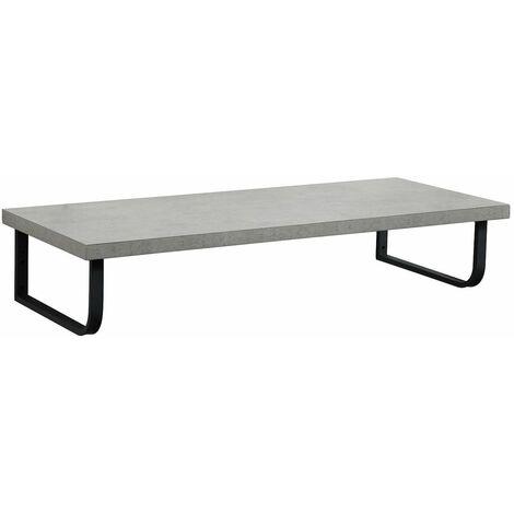 Plan de toilette suspendu pour vasque WILL - 120 cm + Equerres Métal Noir Mat - Décor Chêne / Effet Béton - Décor chêne