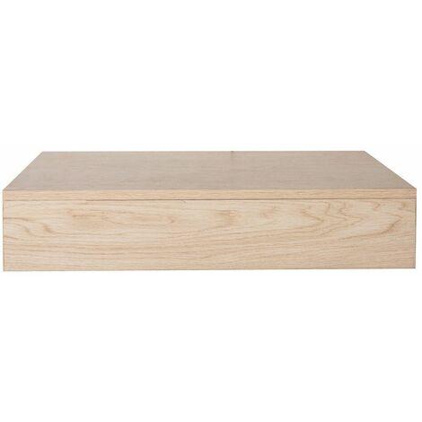 """main image of """"Plan de toilette suspendu pour vasque WILL - 60 cm - Ep. 12 cm + Equerres invisibles - Décor Chêne - Bois Clair"""""""