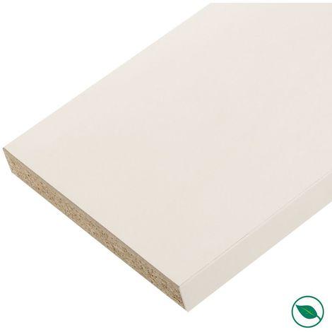 """main image of """"Plan de travail stratifié mélaminé Blanc 1800 x 600 EP 28 mm - PEFC 75%."""""""