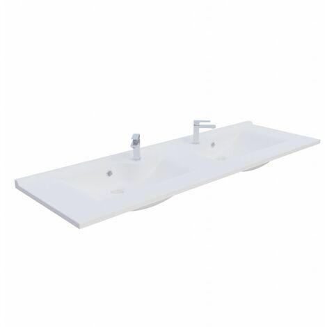 Plan double vasque design RÉSILOGE - 140 cm