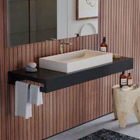 Plan pour vasque 120 cm anthracite avec porte serviette, Futura