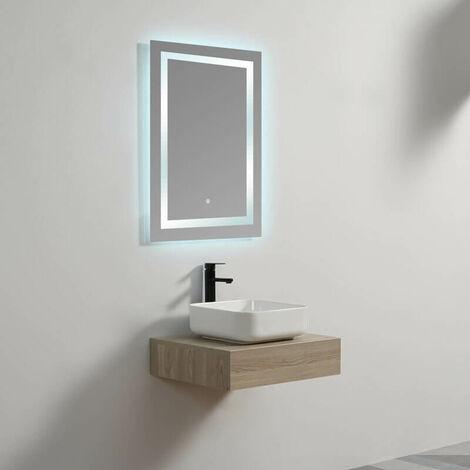Plan sous vasque - Plaqué couleur Bois - 60x50 cm - Tendance
