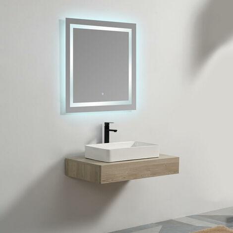 Plan sous vasque - Plaqué couleur Bois - 90x50 cm - Tendance