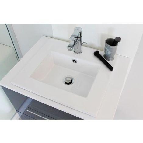 Plan vasque céramique à encastrer Okaido