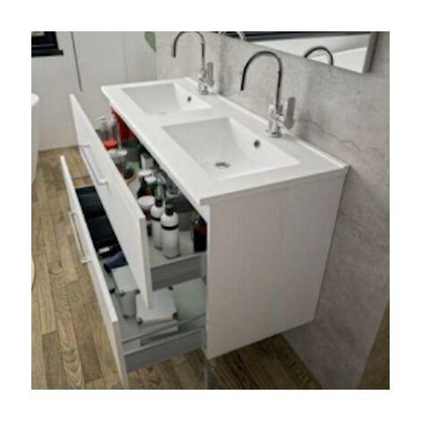 Plan Vasque First - 2 vasques - Céramique Aquance