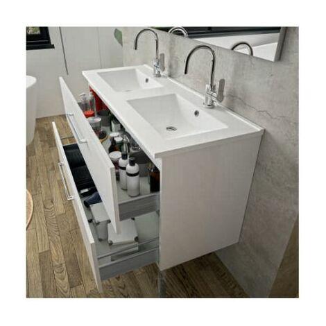 Plan vasque First - Ceramique - Double vasque Aquance