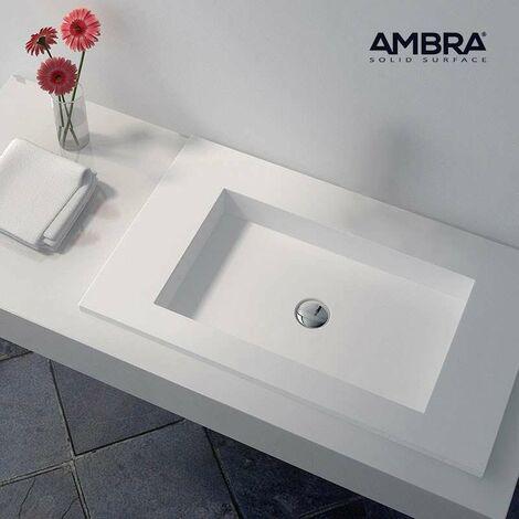 Plan vasque intégrée 75 cm en Solid surface - Lilia II