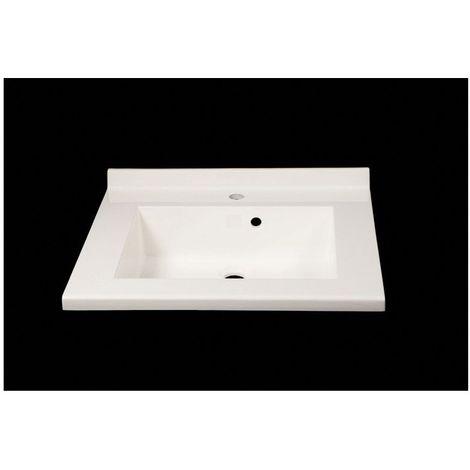 Plan vasque monne 70 blanc