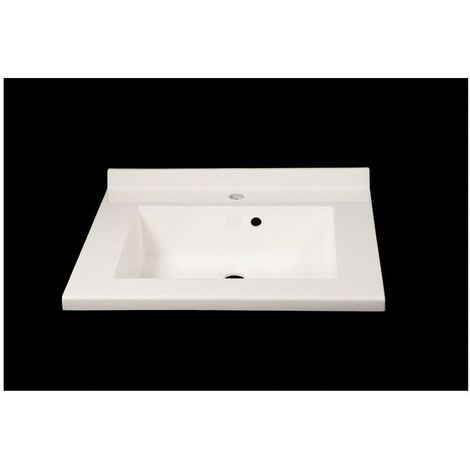 Plan vasque monne 80 blanc