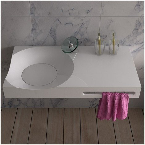 Plan vasque solid surface Réf : SDPW13-E