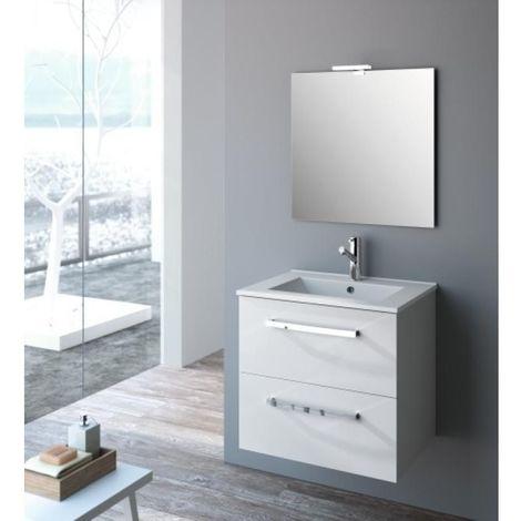 Plan vasque STUDIO céramique fine blanche 60cm
