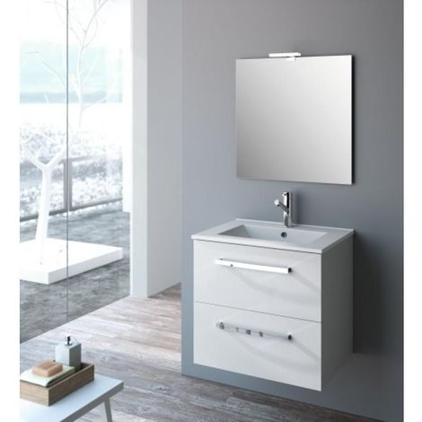 Plan vasque STUDIO céramique fine blanche 80cm