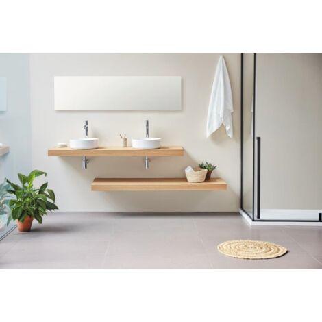 Plan vasque suspendu ZERO pour salle de bain design, chêne