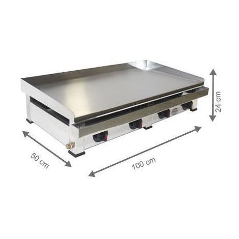 Plancha à gaz - AutoGas - 1000 x 500 x 240 mm