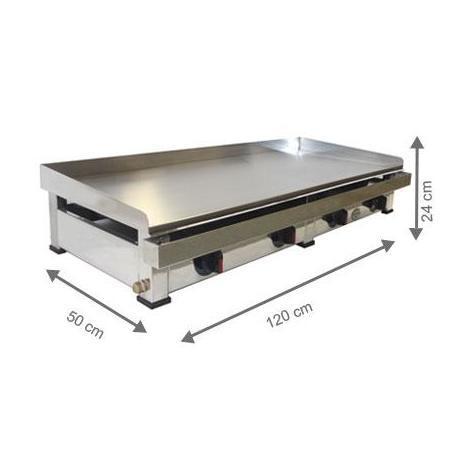 Plancha à gaz - AutoGas - 1200 x 500 x 240 mm