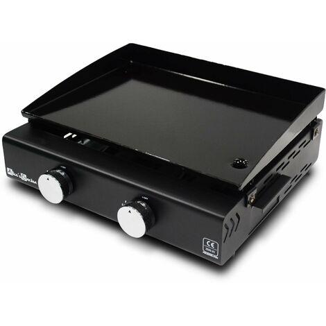 Plancha au gaz 2 bruleurs - Grimaud – 5Kw – cuisine extérieur, barbecue, plaque emmaillée