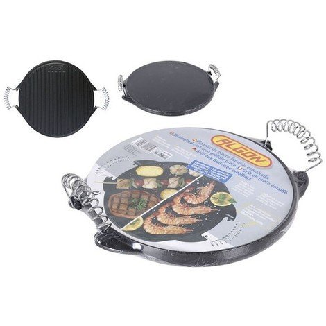 Plancha de Cocina 2 In 1 Rayen Hierro fundido Redondo (ø 25,6 x 2 cm)