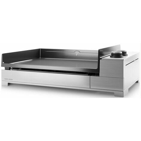 plancha électrique 3200w plaque fonte émaillée 60x42cm - premium e 60 i - forge adour