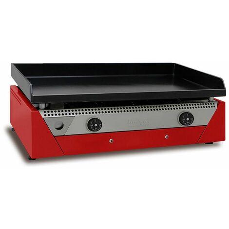 plancha électrique 3400w acier laminé au carbone 70x40cm - rainbow e-70 red - simogas