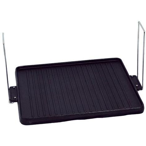 Plancha en fonte pour cheminée ou barbecue modèle CARRE