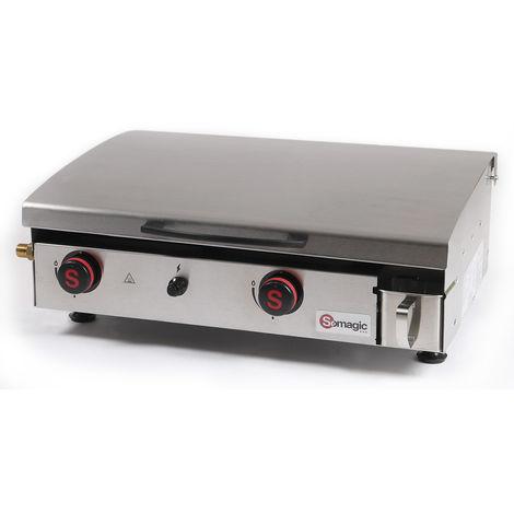 Plancha gaz 2 brûleurs Arenc 6 kW - Somagic
