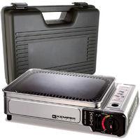 Plancha gaz 2300W avec plaque anti adhésive et valise de transport