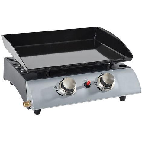 plancha gaz 5000w plaque acier email 45x35cm - 1002 - kitchen chef