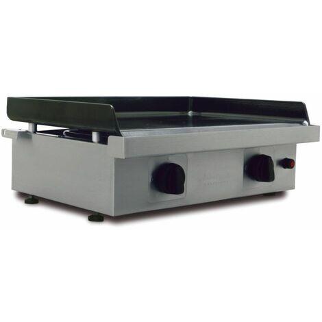 plancha gaz 6600w plaque fonte émaillée 60x40cm - silver-60 fonte - simogas
