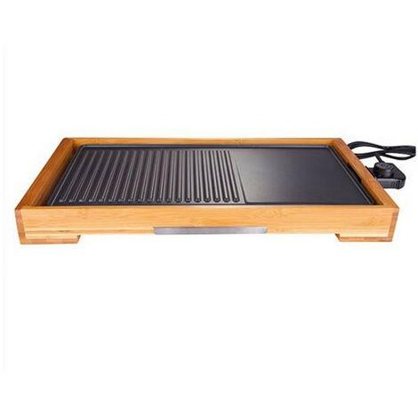 plancha gril électrique 2000w 51x26cm - 8280 - little balance