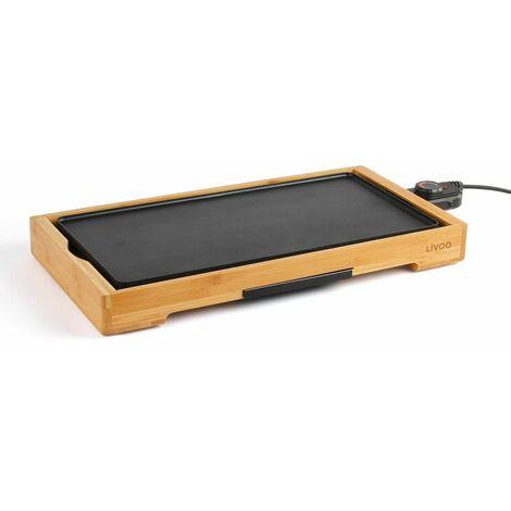 plancha gril électrique 2200w 50x24,5cm - doc202 - livoo