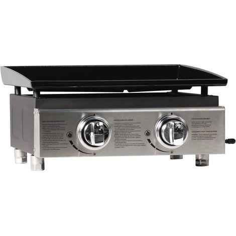 Plancha Presto 2 - 2 Burners - 5 kW - Grey