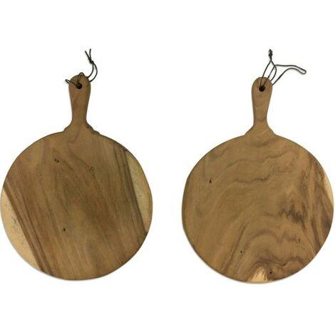 Planche à découper bois massif ronde Pizz 330 mm de diamètre