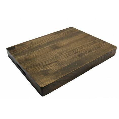 Planche à découper épaisse en bois de frêne 36 x 28 cm - RUSTIK - Marron