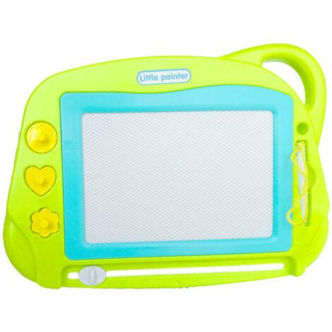 Planche à dessin pour enfants, planche à écrire magnétique, planche à dessin multifonctionnelle magnétique verte