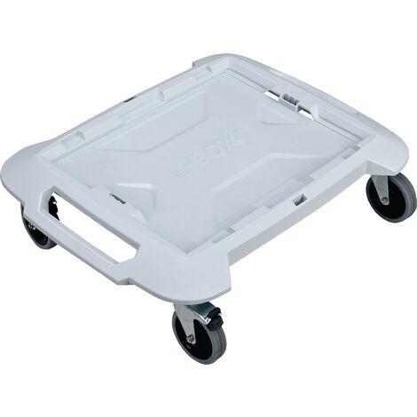 Planche à roulettes L-BOXX® Trade Capacité de charge jusqu'à 100 kg L492xl646mm plastique gris, blanc