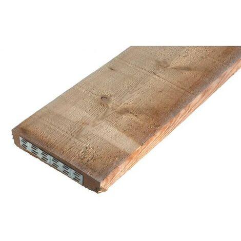 Planche de maçon ferrée sapin de pays h. 40 x L. 210 mm x L. 4 m