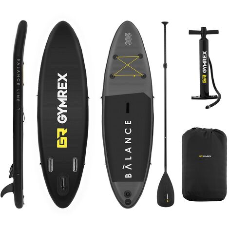 Planche De Paddle Gonflable Kit Complet Stand Up Board 305 X 79 X 15 Cm + Pagaie