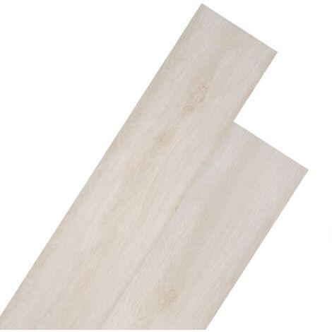 Planche de plancher PVC 5,26 m² 2 mm Couleur de chêne blanc