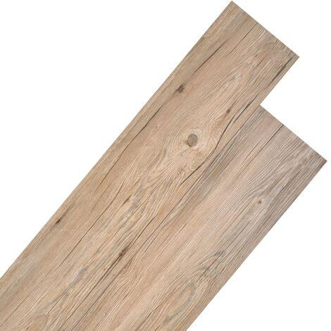 Planche de plancher PVC 5,26 m² 2 mm Marron chêne