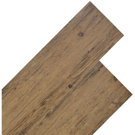Planche de plancher PVC 5,26 m² 2 mm Marron noyer