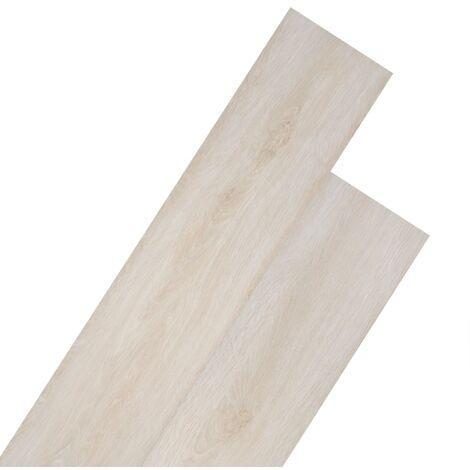 Planche de plancher PVC autoadhésif 5,02 m² 2 mm Blanc chêne